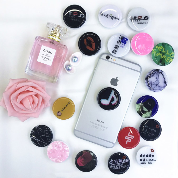 pop up socket phone custom logo grip holder car mount socket